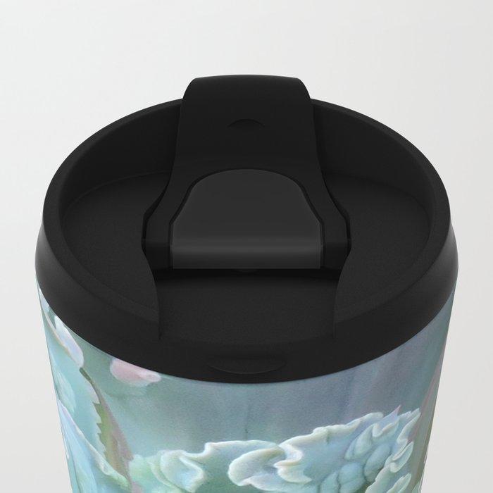 Succulent in the Sand Metal Travel Mug