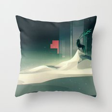 Winter in a dark world Throw Pillow