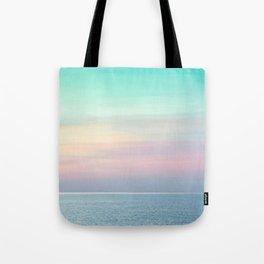 Pastel retro Malibu VII calm ocean & sky Tote Bag
