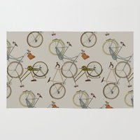 bicycles Area & Throw Rugs featuring bicycles by Golden Boy