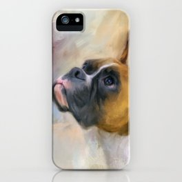 Flashy Fawn Boxer iPhone Case
