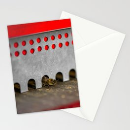 The Bee has the entry of the hive Stationery Cards