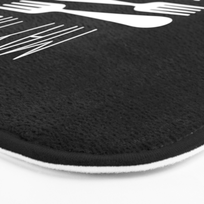 May The Forks Be With You Bath Mat
