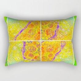 Whimsical mesh abstraction Rectangular Pillow