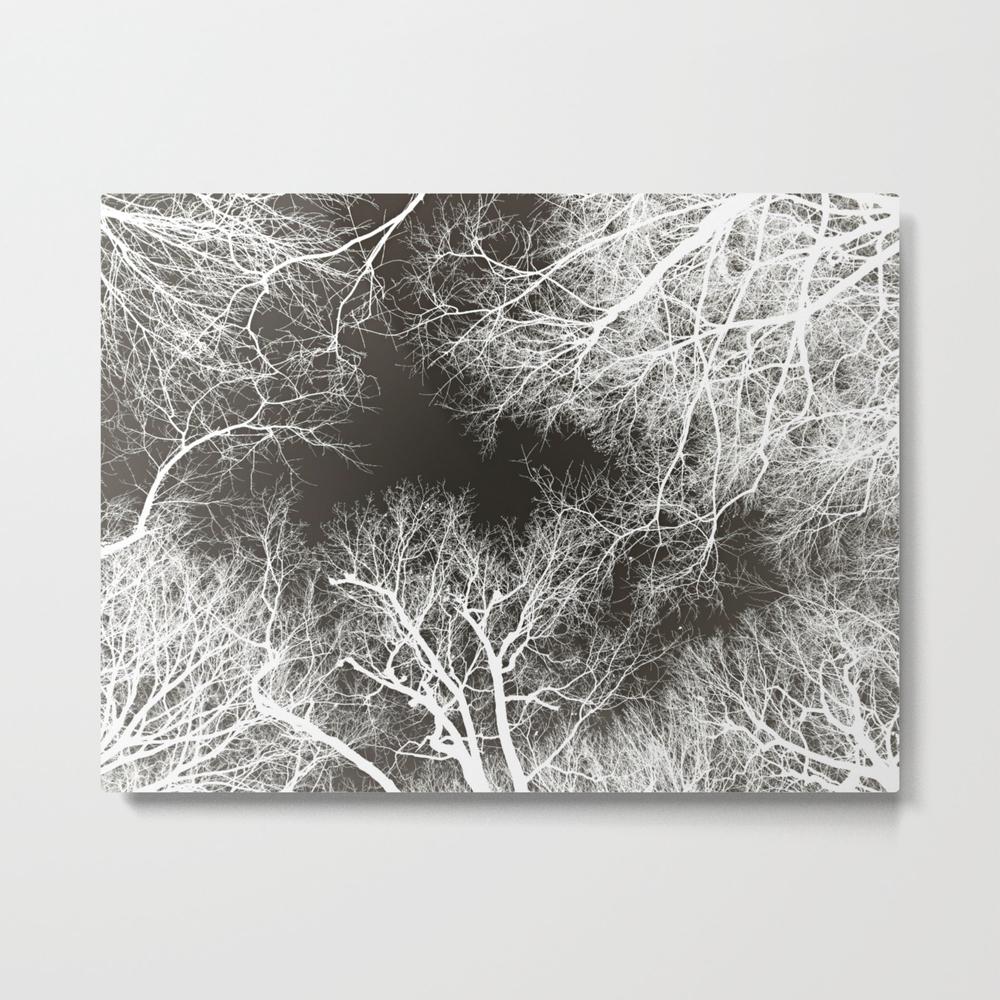 White Veins, Black Flesh Metal Print by Vikkart MTP8521382