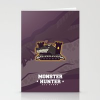 monster hunter Stationery Cards featuring Monster Hunter All Stars - Schrade Legends by Bleached ink