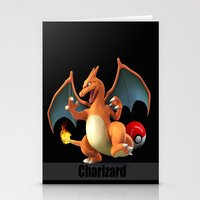 charizard Stationery Cards featuring Charizard by Yamilett Pimentel