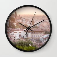 florence Wall Clocks featuring Florence by ocophoto