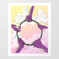 Hooping Hands Art Print