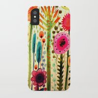 garden iPhone & iPod Cases featuring printemps by sylvie demers