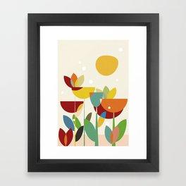 mid century Framed Art Print