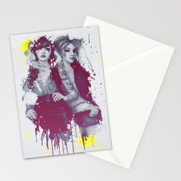 two girls Stationery Cards