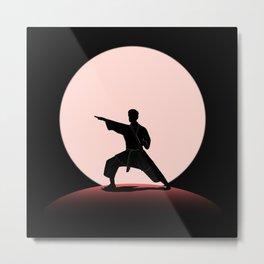 Karate Judo Martial Arts Full Moon Night Metal Print