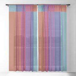 The Color Wheel / Rainbow Stripes Sheer Curtain