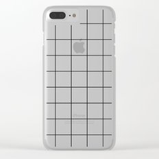 Black Squares Clear iPhone Case