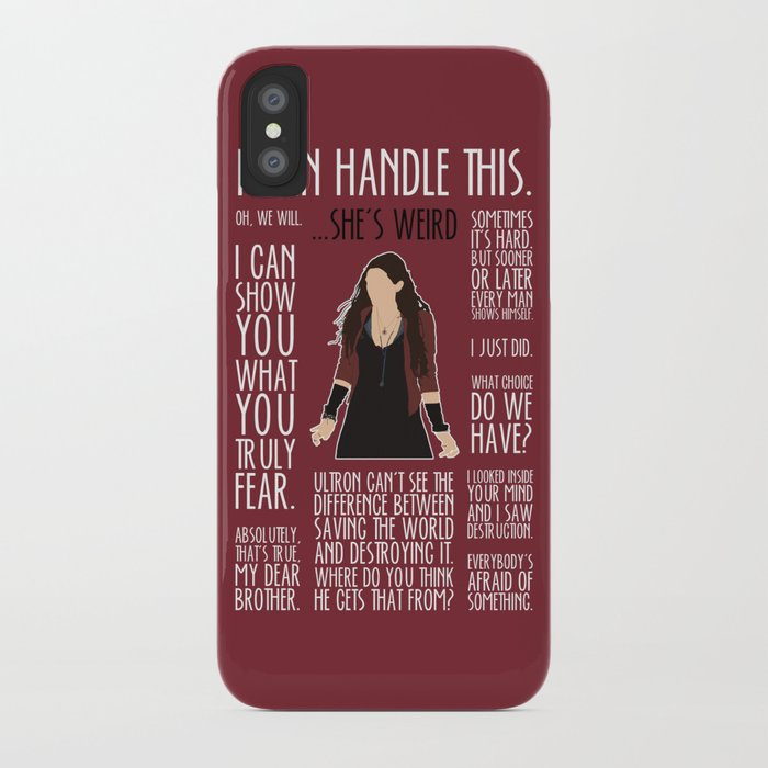 cheap for discount 90350 24769 Scarlet Witch iPhone Case by britishindie