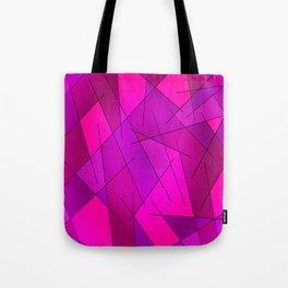 ABSTRACT LINES #1 (Purples, Violets, Fuchsias & Magentas) Tote Bag