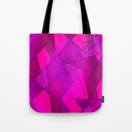 ABSTRACT LINES #1 (Purples, Violets, Fuchsias & Magentas) Tote Bag