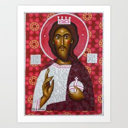 Folk Christ1 Art Print