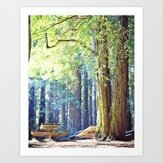Picnic in the Woods Art Print
