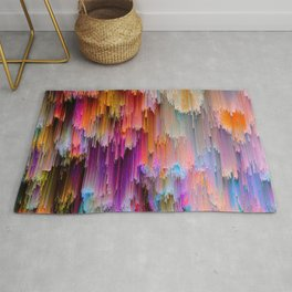 Light meets Dark Colorful Glitch Art Rug