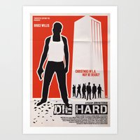 die hard Art Prints featuring DIE HARD by Alain Bossuyt