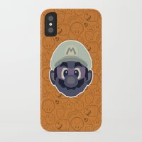 mario iPhone & iPod Cases featuring Mario by Kuki