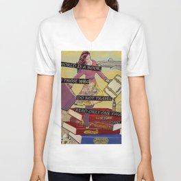 Travel The World Through Books Unisex V-Neck