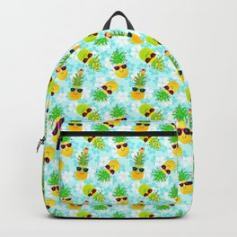 Funny Tropical Christmas Pineapples Backpack