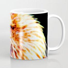 bald eagle 03 neon lines crystal Coffee Mug