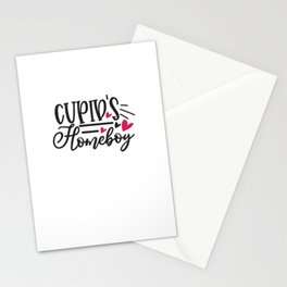 Cupid'S Homeboy Design  - Funny Love humor - Cute typography - Lovely and romantic quotes illustration Stationery Cards