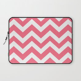 Wild watermelon - pink color - Zigzag Chevron Pattern Laptop Sleeve