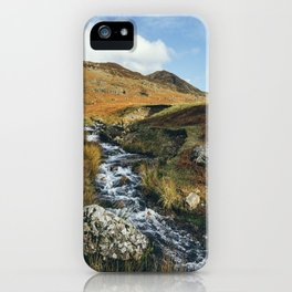 Cinderdale Beck flowing below Whiteless Pike towards Crummock Water. Cumbria, UK. iPhone Case