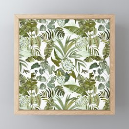 Wild botany in the jungle Framed Mini Art Print