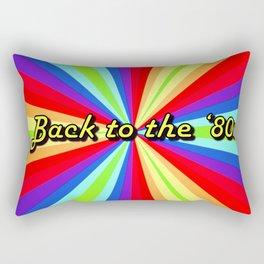 Pinwheel gummy msg back to the 80s Rectangular Pillow
