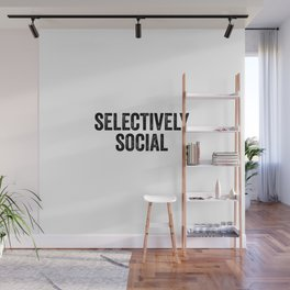 Selectively Social Wall Mural