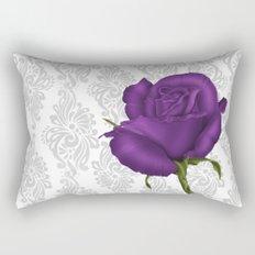 Purple Rose Rectangular Pillow