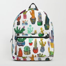 Funky Rainbow Cactus Pattern Backpack