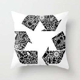 Recycling is Cool Throw Pillow
