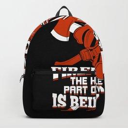 Firefighter Job Profession Firewoman Fireman Gift Backpack