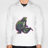 kaiju Hoodies featuring Kaiju Senior Kaiju Junior by firestarterdesign