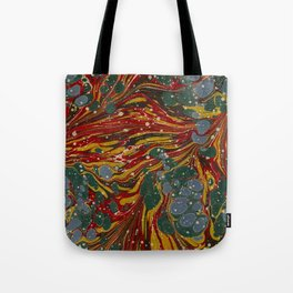 Melting Marbled Paper Tote Bag