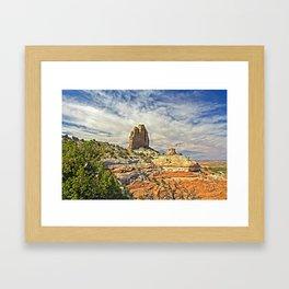 Square Butte Framed Art Print