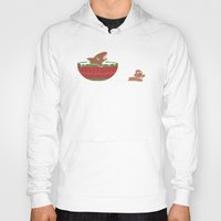 jaws Hoodies featuring Gingerbread Jaws by Teo Zirinis