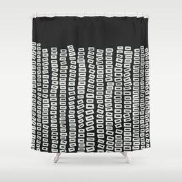 White Bricks Shower Curtain