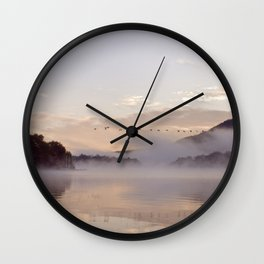 Into the Mists of Dawn Wall Clock
