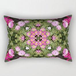 Gerbera And Ranunculus Kaleidoscope Rectangular Pillow