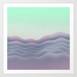 iso mountain sunset Art Print