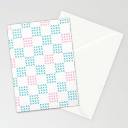 Abstract Chequered Grid Background. Hand Drawn Stationery Cards