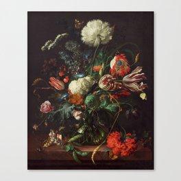 Jan Davidsz de Heem - Vase of Flowers Canvas Print